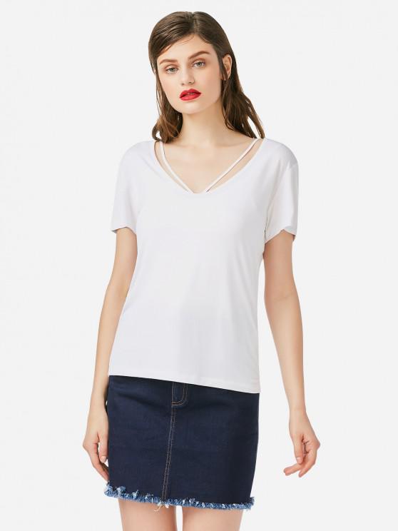 T-shirt à Bretelle - Blanc XL
