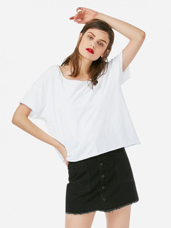 ZAN.STYLE коробка Вырезать футболки - Белый XL