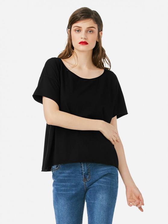 ladies ZAN.STYLE Box Cut T-shirt - BLACK S