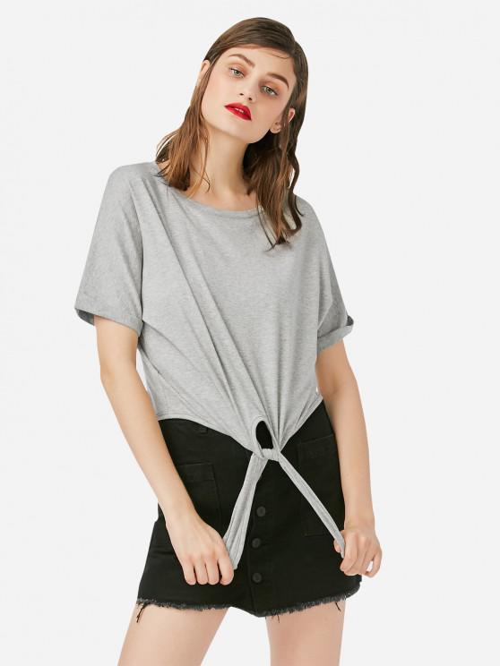 Женская рубашка с круглым вырезом - Серый S