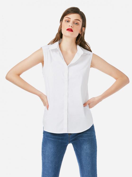 Camisola de Alças de Colarinho - Branco M