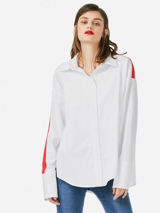 fancy ZAN.STYLE Collar Top Blouse - WHITE ONE SIZE