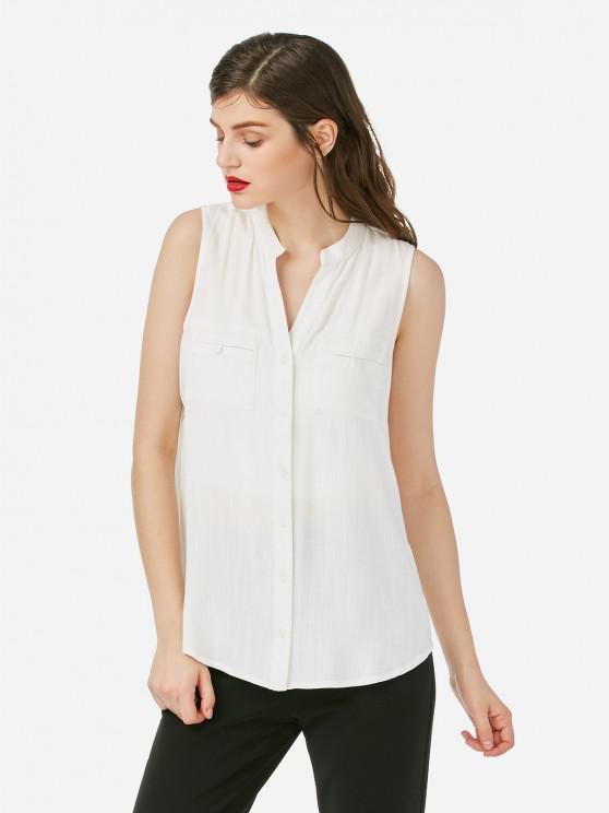 women's ZAN.STYLE Sleeveless Blouse - WHITE XL