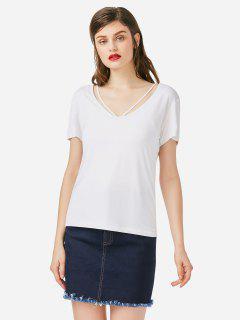 T-shirt à Bretelle - Blanc L