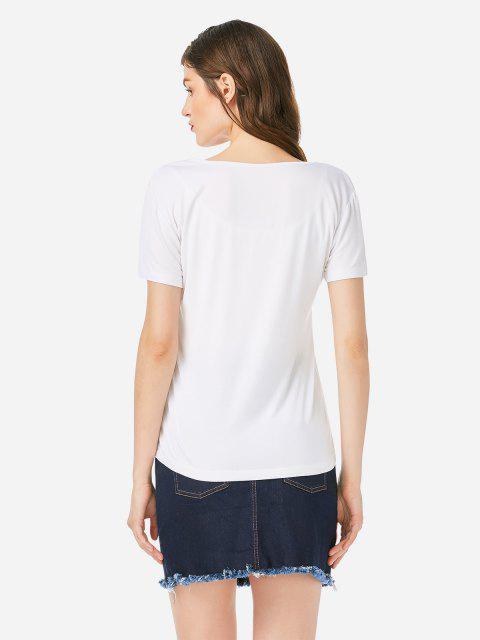 T-shirt à Bretelle - Blanc L Mobile