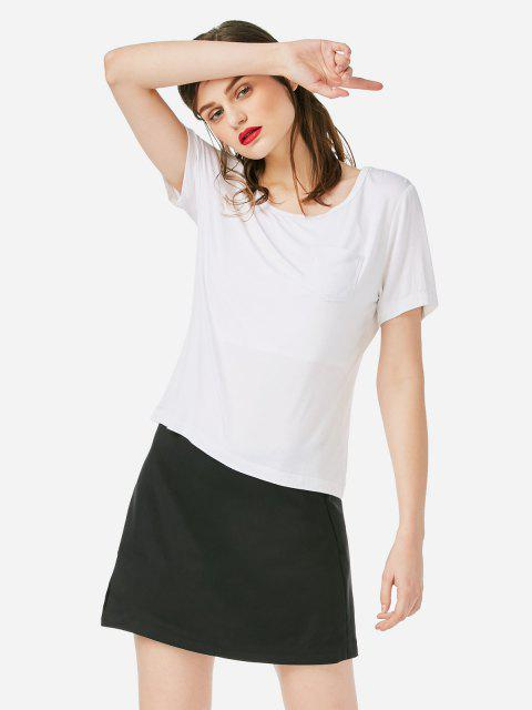 ZAN.STYLE Pocket T-shirt - 白 M Mobile