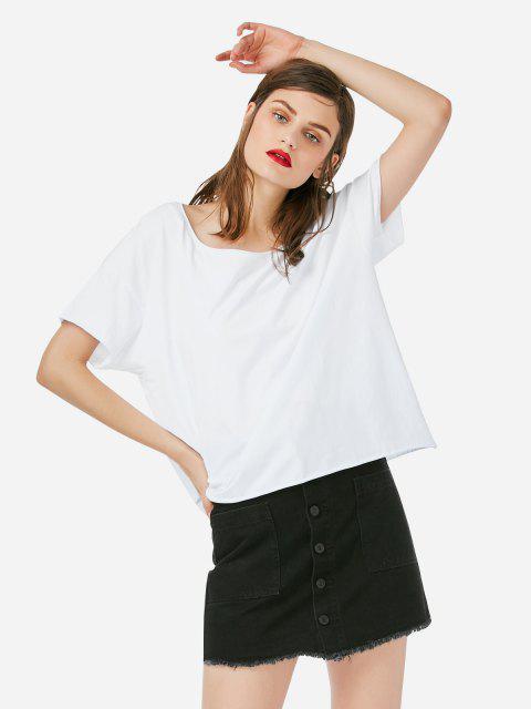 ZAN.STYLE BoxCutT-Shirt - Weiß S Mobile