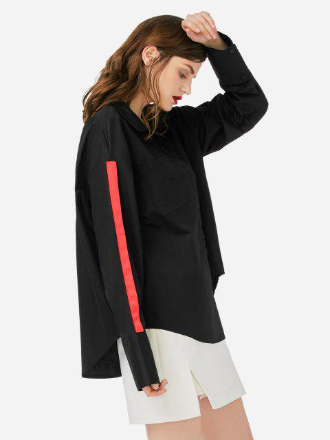 best ZAN.STYLE Collar Top Blouse - BLACK ONE SIZE Mobile