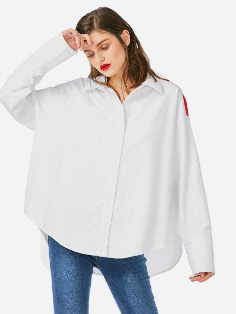 fancy ZAN.STYLE Collar Top Blouse - WHITE ONE SIZE Mobile