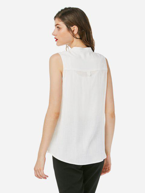 new ZAN.STYLE Sleeveless Blouse - WHITE L Mobile