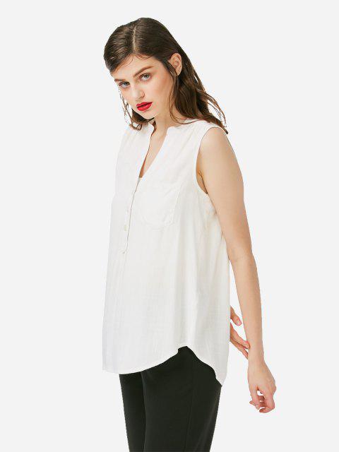 trendy ZAN.STYLE Sleeveless V-neck Tank Top - WHITE L Mobile