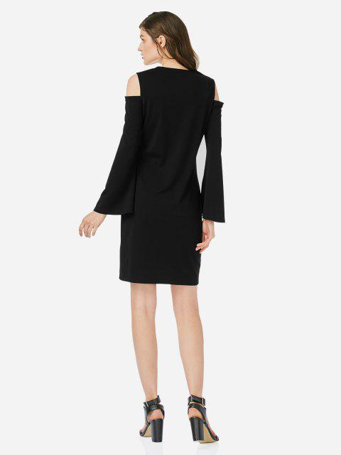 outfits ZAN.STYLE Open Shoulder Slim Dress - BLACK M Mobile