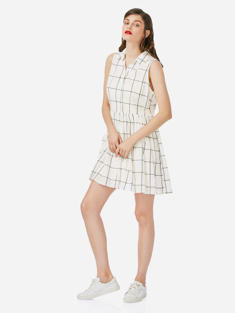 Vestido sin mangas de la camisa ZAN.STYLE - Blanco XL Mobile