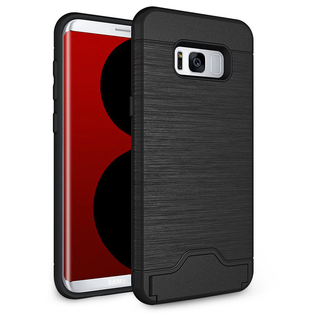 Brushed Finish Phone Case Protector for Samsung Galaxy S8 Stand Bracket Card Holder 210990001