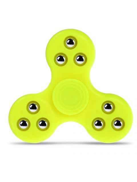 Спиннер-вертушка гироскопическая антистрессовая игрушка с декором из бисера для офисного работника - Жёлтый  Mobile
