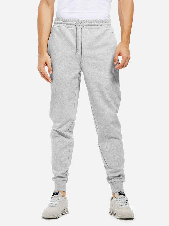 unique Sweatpants - HEATHER GRAY L