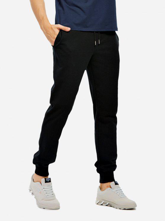 Pantalon de Survêtement en Coton - Noir S