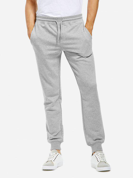 latest Cotton Sweatpants - HEATHER GRAY M