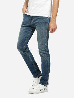 Mid Rise Skinny Jeans - Blue 40