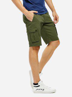 Knee Length Cargo Shorts - Army Green 40