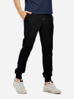 Cotton Sweatpants - Black S