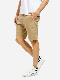 Knee Length Shorts - Khaki 35
