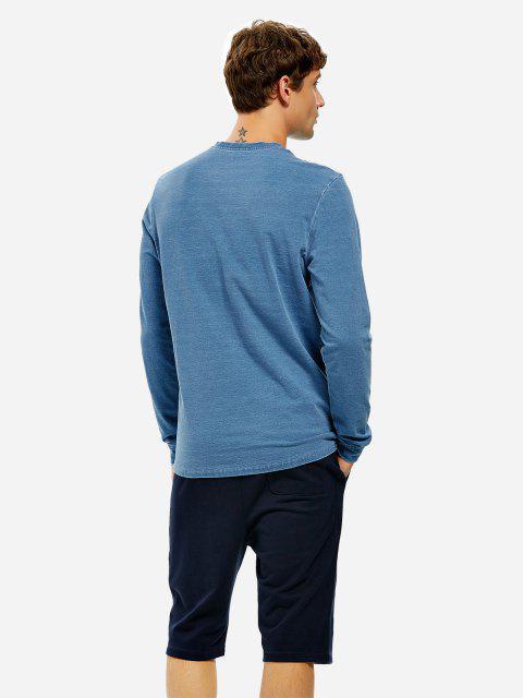 Sweat-shirt Hommeà Manches Longues à Col Rond - Indigo 2XL Mobile