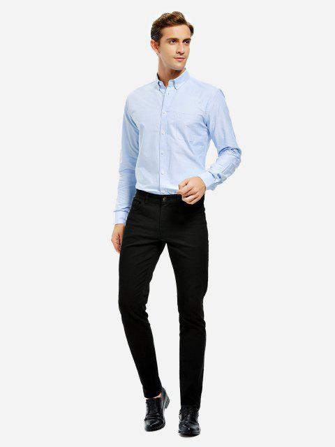 shops ZAN.STYLE Oxford Dress Shirt - BLUE 3XL Mobile