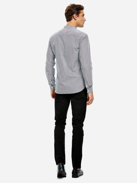 de La Camisa del Cuello de La Banda del Vestido - NEGRO Y BLANCO DE RAYAS 3XL Mobile
