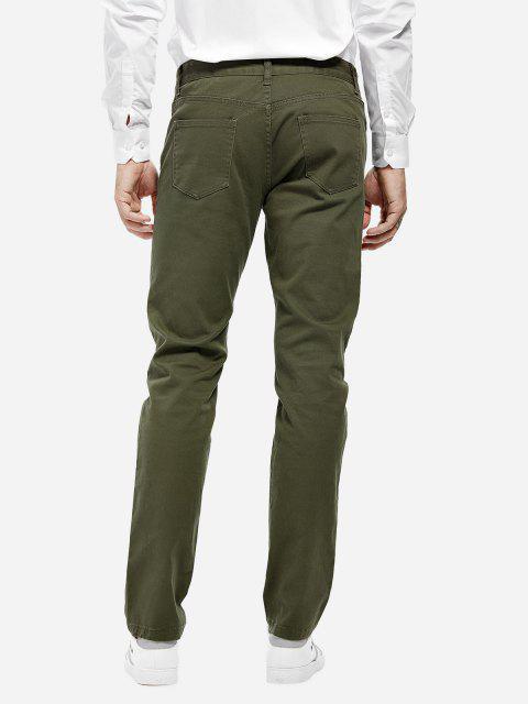 Pantalon en Tricot Extensible à la Mode pour Homme - Vert Armée  31 Mobile