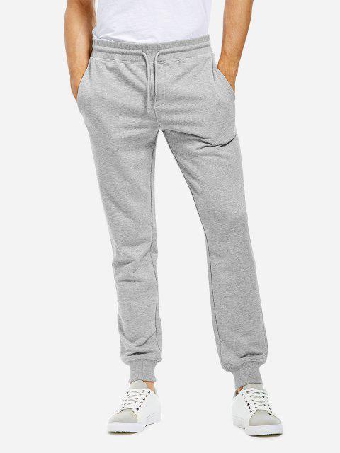Baumwolle Jogginghose - Meliert Grau L Mobile