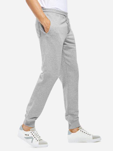 fashion Cotton Sweatpants - HEATHER GRAY S Mobile