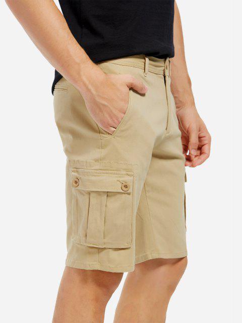 chic ZAN.STYLE Knee Length Cargo Shorts - KHAKI 38 Mobile
