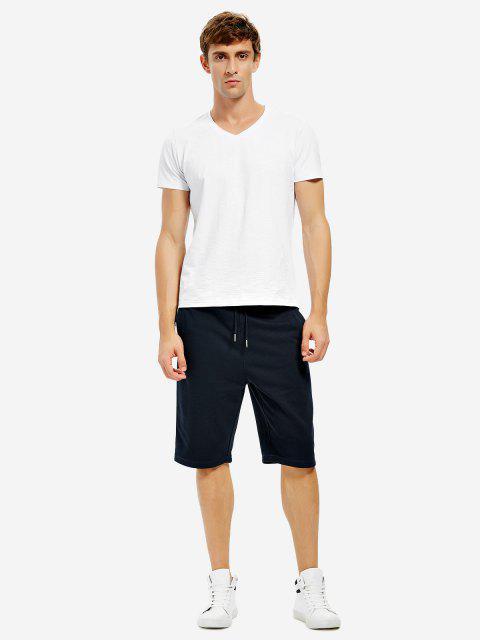 women's Sweatpants Shorts - BLUE M Mobile