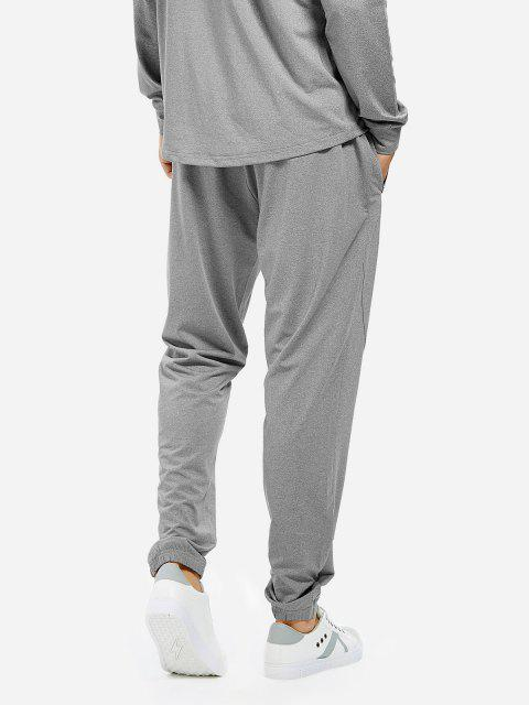 online ZAN.STYLE Men Joggers Sweatpants with Zip Pocket - HEATHER GRAY XL Mobile