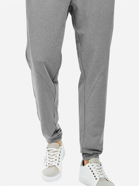 new ZAN.STYLE Men Joggers Sweatpants with Zip Pocket - HEATHER GRAY L Mobile