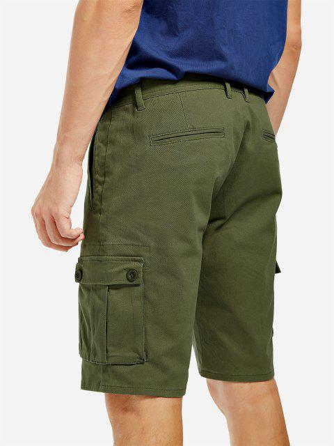 women ZAN.STYLE Knee Length Cargo Shorts - ARMY GREEN 40 Mobile