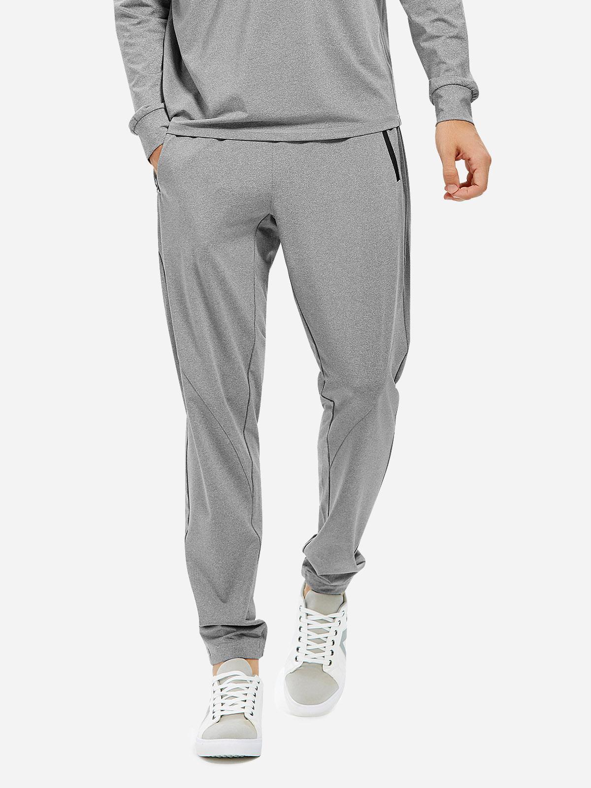 ZAN.STYLE Men Joggers Sweatpants with Zip Pocket