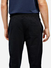 701f0e91ac8184 44% OFF] 2019 Cotton Sweatpants In BLACK | ZAFUL