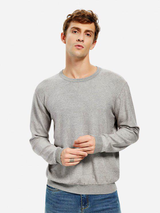 affordable ZAN.STYLE Men Knitwear Crew Neck Sweater - GRAY XL