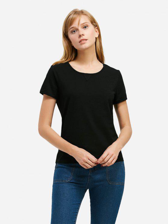 T-Shirt à Col Rond - Noir S