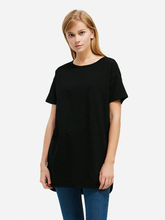 outfit ZAN.STYLE Longline T-shirt - BLACK S