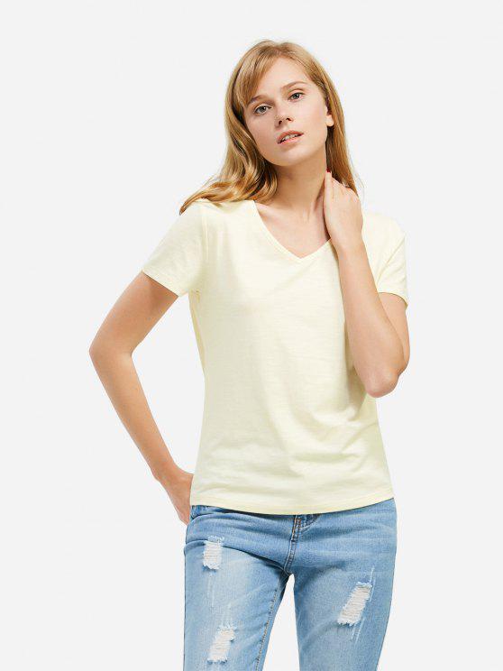 T-Shirt à Col en V - Palomino M