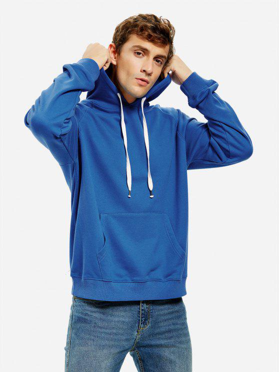 ZAN.STYLE Hooded Sweatshirt - أزرق M