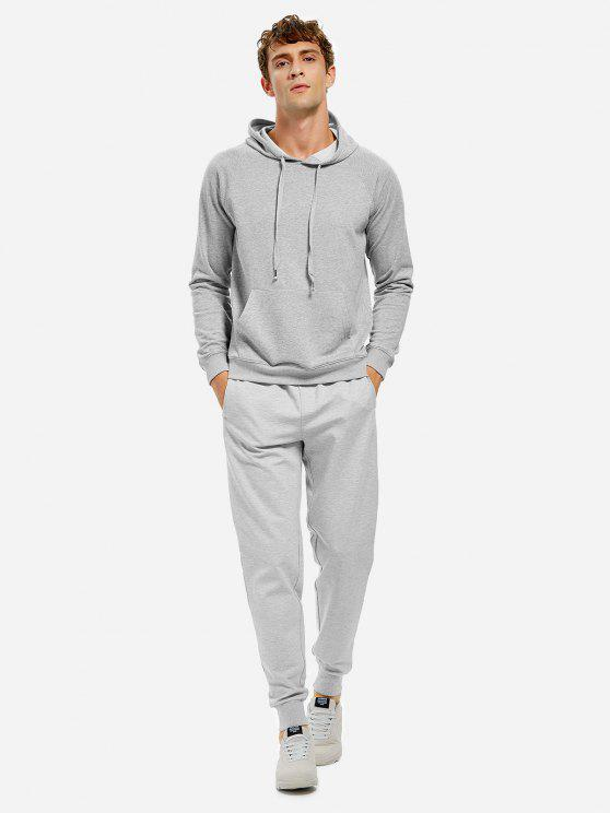 hot ZAN.STYLE Hooded Sweatshirt - LIGHT GRAY 2XL