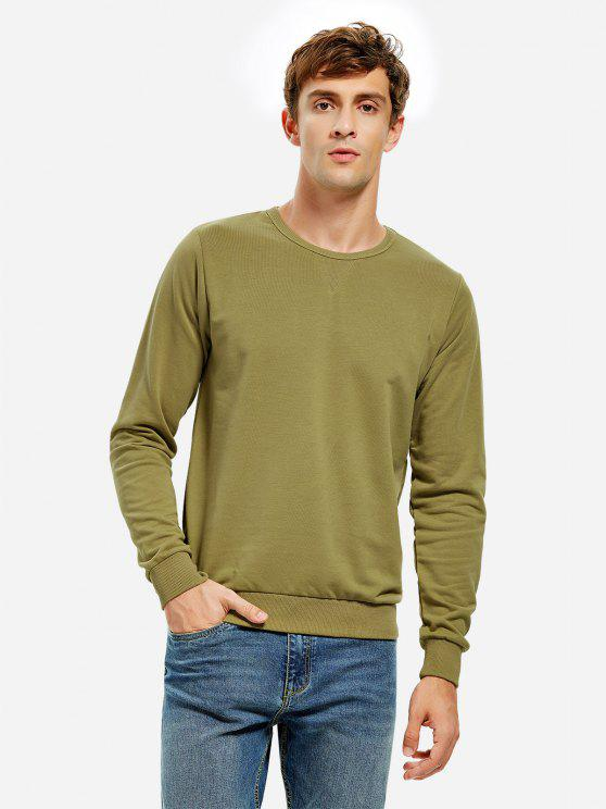 ZAN.STYLE Crew Neck Sweatshirt - MOSS GREEN XL
