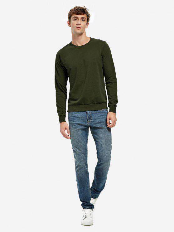 buy ZAN.STYLE Round Neck Sweatshirt - TURQUOISE XL