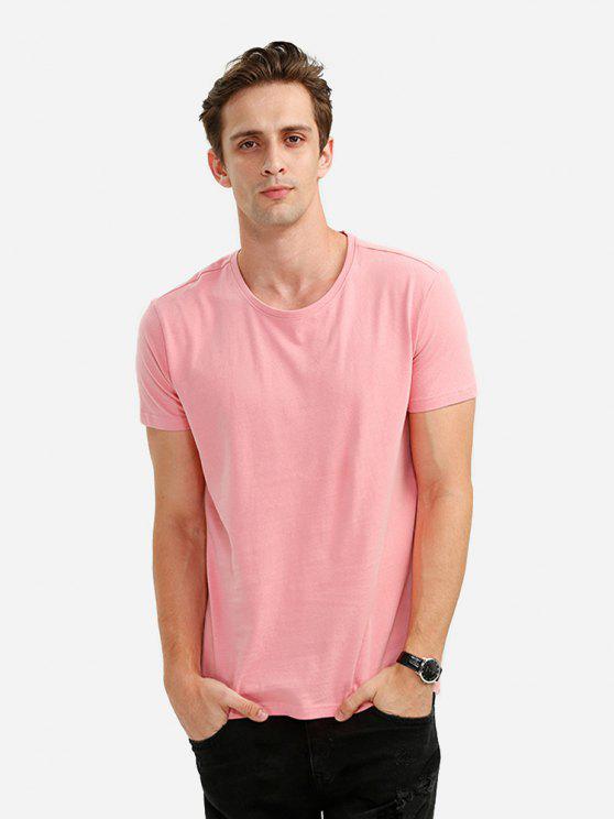 ZANSTYLE Männer Rundhals T Shirt - Rosa XL