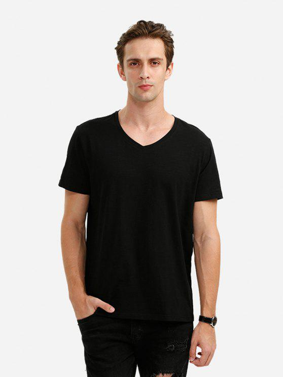 latest ZAN.STYLE V Neck Tee - BLACK XL