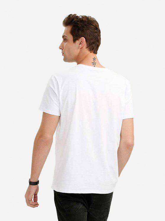 shirt VBlanc Col En M T À m0Nwv8n
